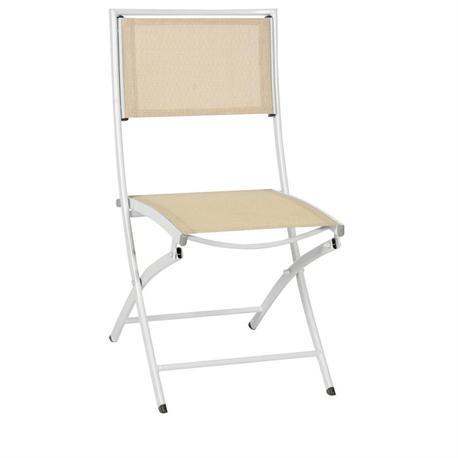 Folding White Aluminium chair