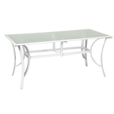 Rectangular White Aluminium table 85Χ160 cm