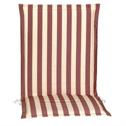 Cushion red stripe low back no zipper 93 cm