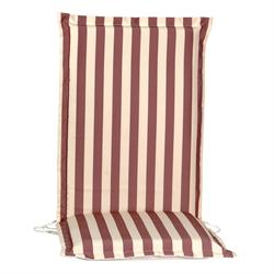 cushion red stripe hi back no zipper 114 cm