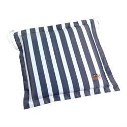Cushion blue stripe seat 40X40 cm