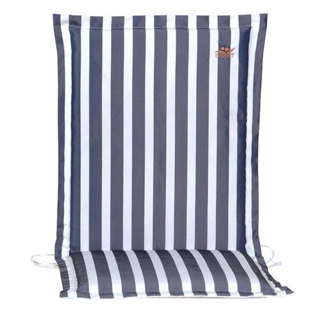 Cushion blue stripe low back 93 cm