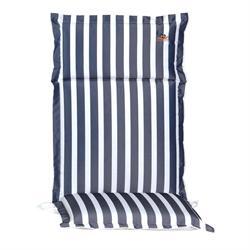 Cushion blue stripe hi back 114 cm