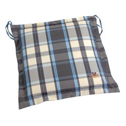 Cushion grey plaid seat 40X40 cm