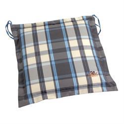 Μαξιλάρι καρό γκρί, κάθισμα 40Χ40 εκ.