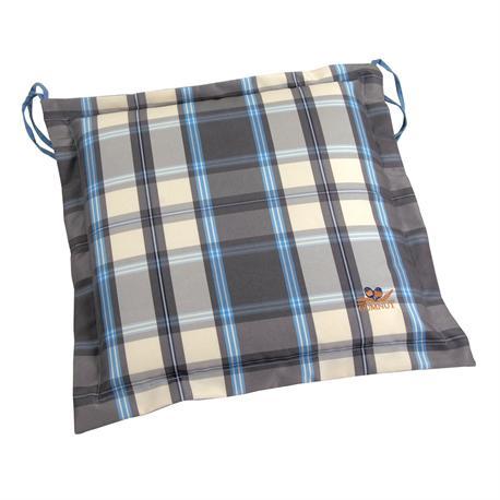 Cushion grey plaid seat 40X40 cm