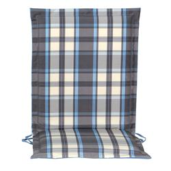 Cushion grey plaid low back 93 cm