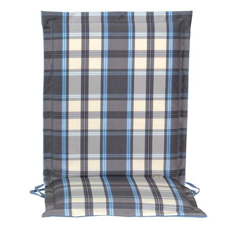 Cushion grey plaid low back 93 cm