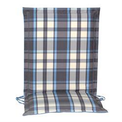Cushion grey plaid low back 96 cm
