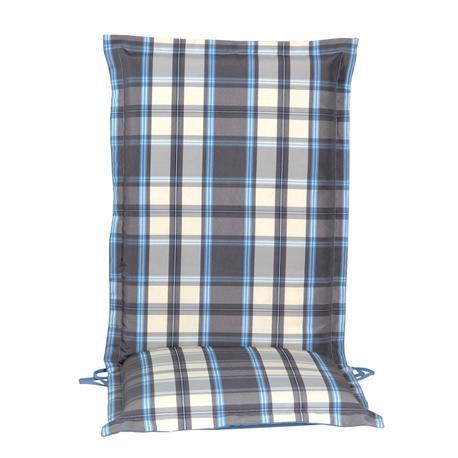 Cushion grey plaid hi back 114 cm