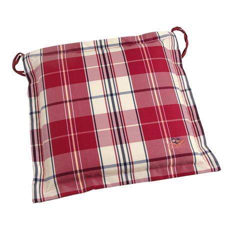 Cushion Red Plaid Seat 40x40 Cm