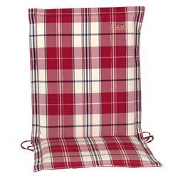 Cushion red plaid low back 93 cm