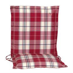 Cushion red plaid low back 96 cm