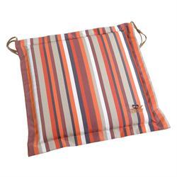 Μαξιλάρι ριγέ πορτοκαλί,κάθισμα 40Χ40 εκ.