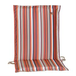 Cushion orange stripe low back 93 cm