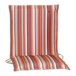 Cushion orange stripe low back 96 cm