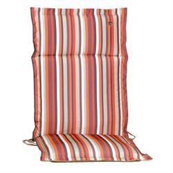 Cushion orange stripe hi back 114 cm