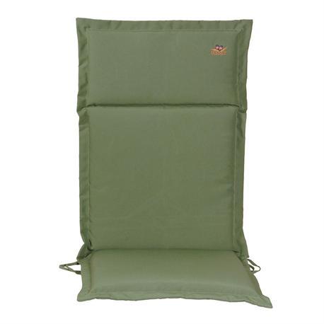 Cushion green hi back 114 cm