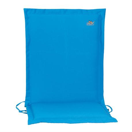 Cushion light blue low back 93 cm