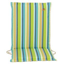 Cushion green stripe low back 93 cm