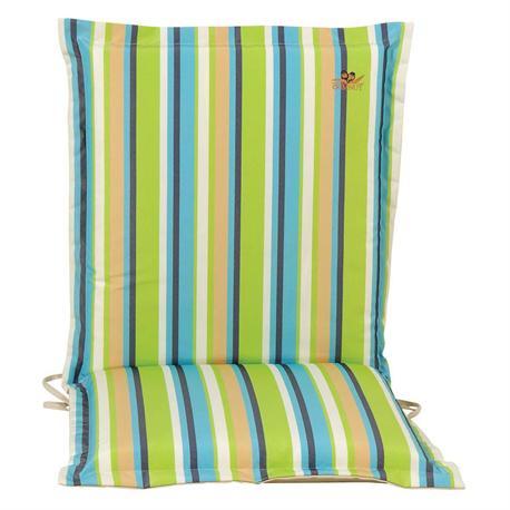 Cushion green stripe low back 96 cm