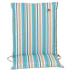 Cushion light blue stripe low back 93 cm