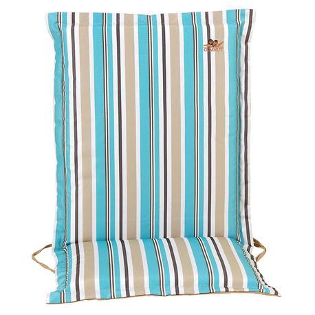 Cushion light blue stripe low back 93 cm