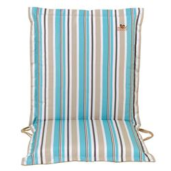 Cushion light blue stripe low back 96 cm