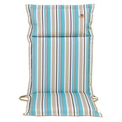Cushion light blue stripe hi back 114 cm