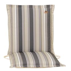 Cushion grey stripe low back 93 cm