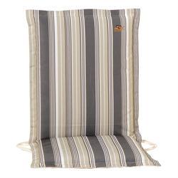 Cushion grey stripe low back 96 cm