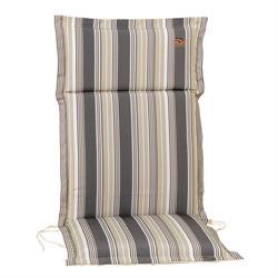 Cushion grey stripe hi back 114 cm