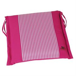 Cushion pink stripe seat 40X43 cm