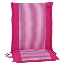 Cushion pink stripe low back 93 cm
