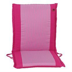 Μαξιλάρι με λεπτή ρίγα ροζ , χαμηλή πλάτη 96 εκ.