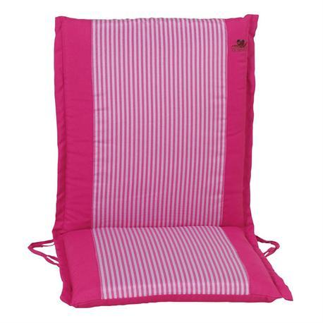 Cushion pink stripe low back 96 cm