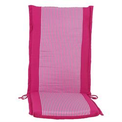 Cushion pink stripe hi back 114 cm