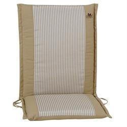 Cushion beige stripe low back 96 cm