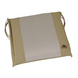 Cushion beige stripe seat 40X43 cm