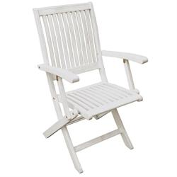 Folding armchair White