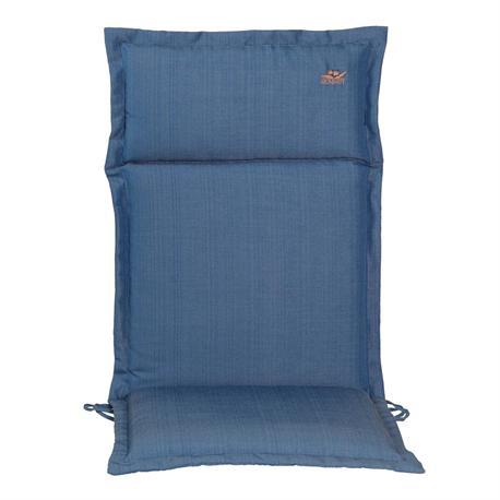 Cushion blue hi back 114 cm