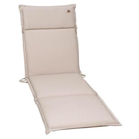 Cushion ecru for lounger 196X58 cm