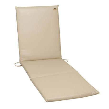 Latherette beige cushion for lounger 196X60 cm