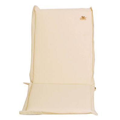 Cushion ecru low back 93 cm