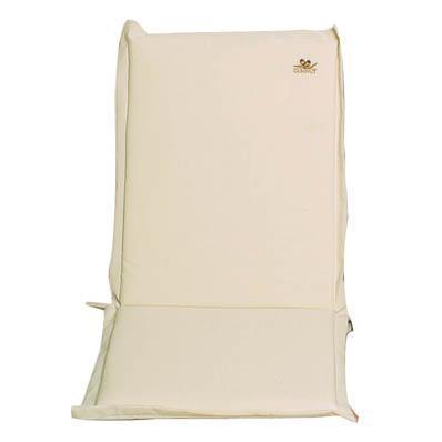 Cushion ecru low back 96 cm