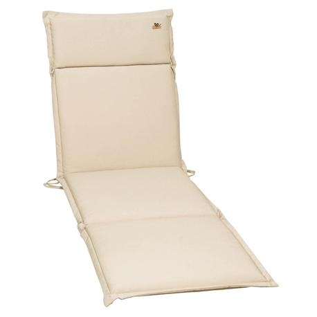 Cushion ecru for lounger 196X58 cm