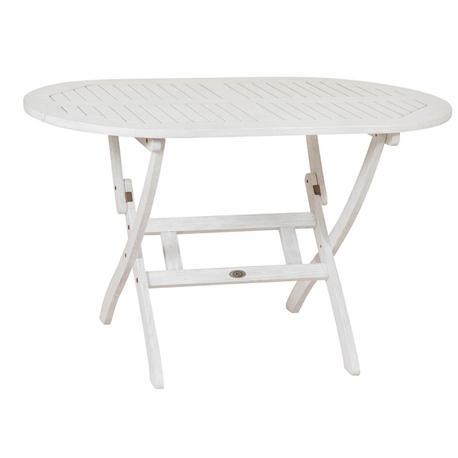 Τραπέζι οβάλ πτυσσόμενο 70x120 Λευκό