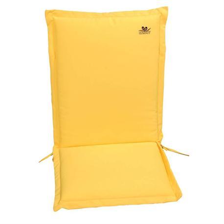 Cushion yellow low back 93 cm