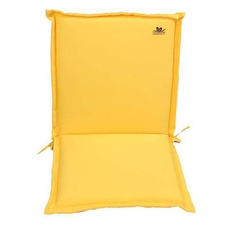 Μαξιλάρι κίτρινο,χαμηλή πλάτη 96 εκ.