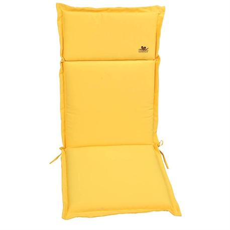 Μαξιλάρι κίτρινο, ψηλή πλάτη 114 εκ.